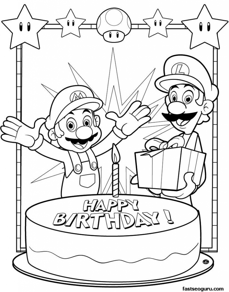 Coloring Pages ~ Awesome Printable Coloring Birthday Cards Photo | Printable Coloring Birthday Cards