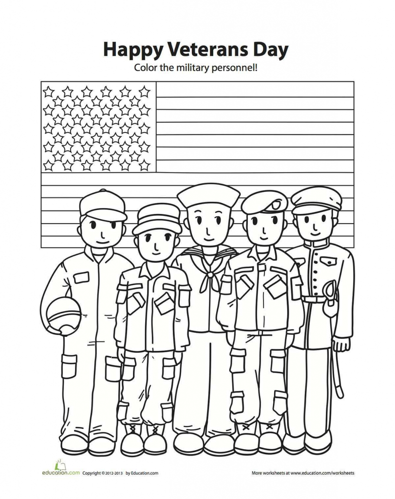 Coloring Pages ~ Coloring Pages Veterans Day For Kindergarten Ideas | Veterans Day Free Printable Cards