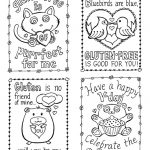 Coloring Pages ~ Coloring Valentines Cards Pages Marvelous Picture | Printable Valentine Cards To Color
