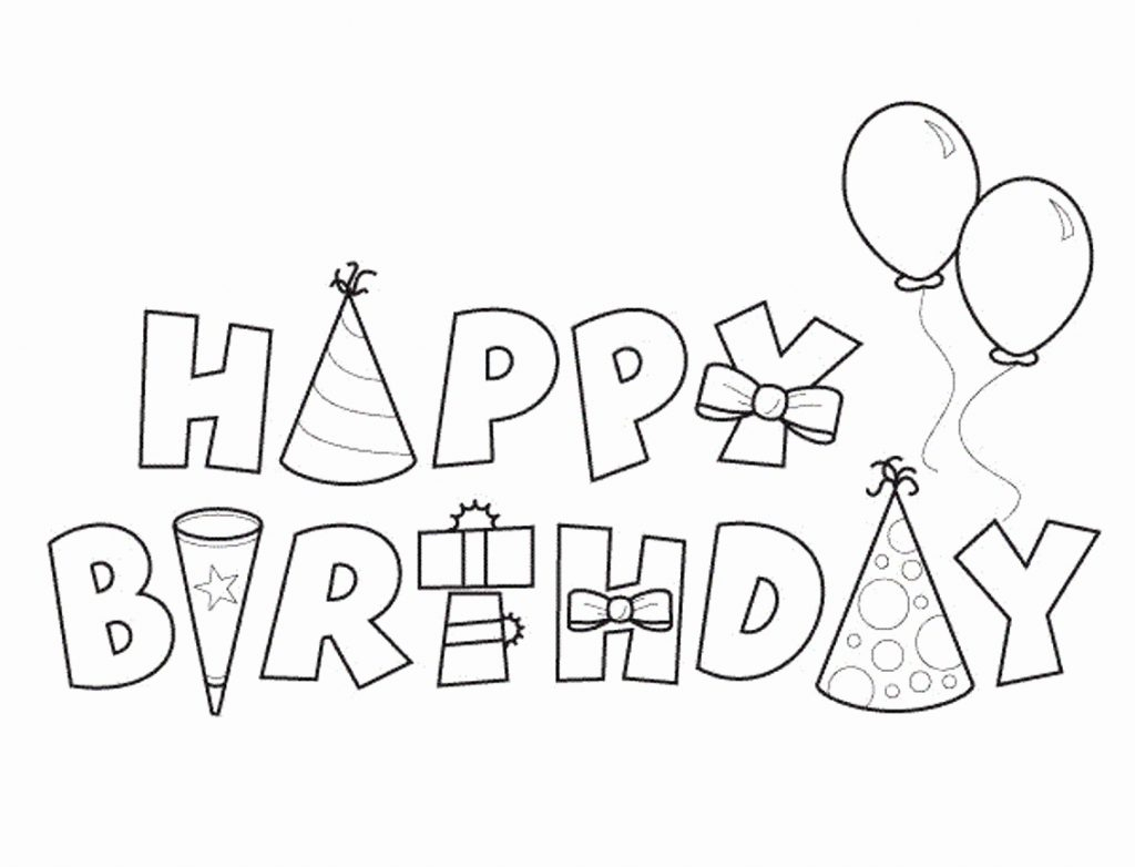 Coloring Pages ~ Free Coloring Birthday Cards Astonishing Card Black | Black And White Birthday Cards Printable