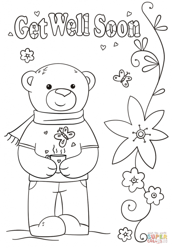 Coloring Pages ~ Get Well Soon Coloring Pages With And Grandma Page | Free Printable Get Well Cards To Color