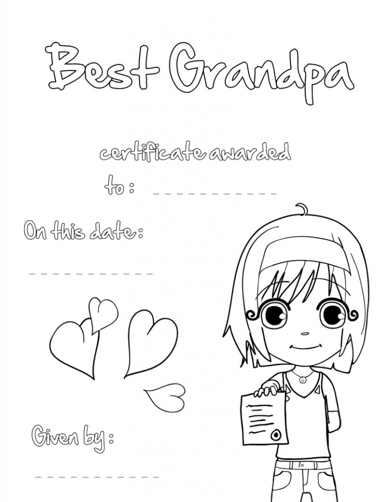 Coloring Pages ~ Greeting Card Coloring Pages Best Grandpa Printable | Grandparents Day Cards Printable