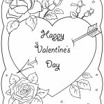 Coloring Pages ~ St Valentines Day Card Coloring Page Pages Happy | Printable Valentines Day Cards To Color