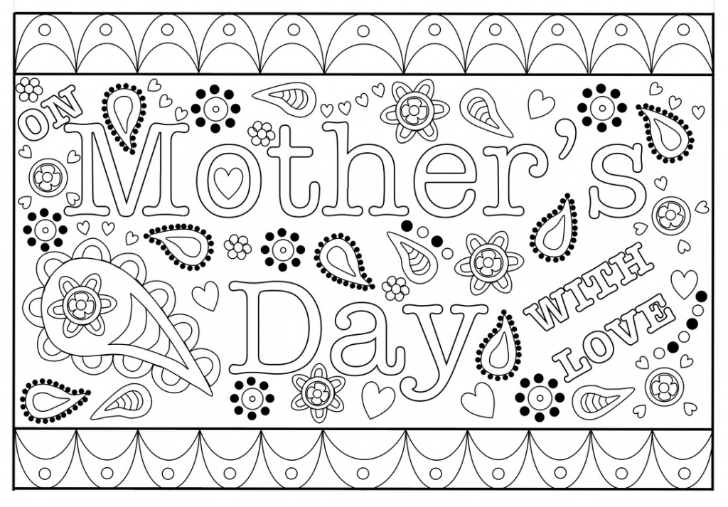 Colouring Mothers Day Card Free Printable Template | Free Printable Cards To Color