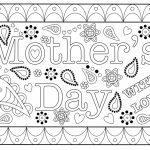 Colouring Mothers Day Card Free Printable Template | Free Printable Mothers Day Cards To Color