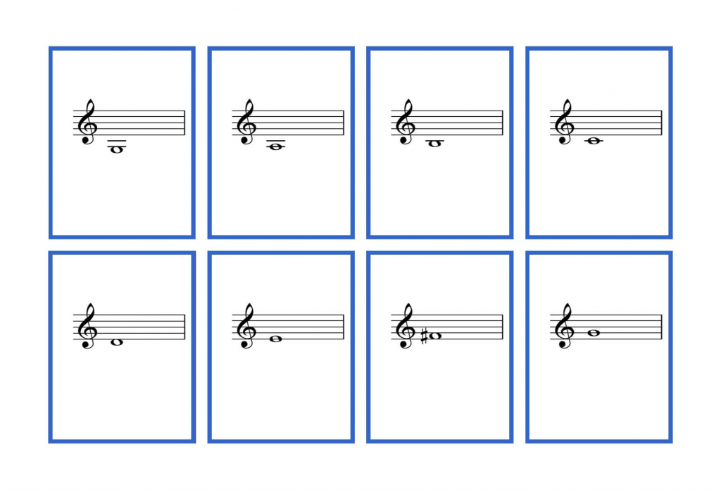 Complete Set Violin Flash Cards – Printable | Denley Music | Piano Music Notes Flash Cards Printable