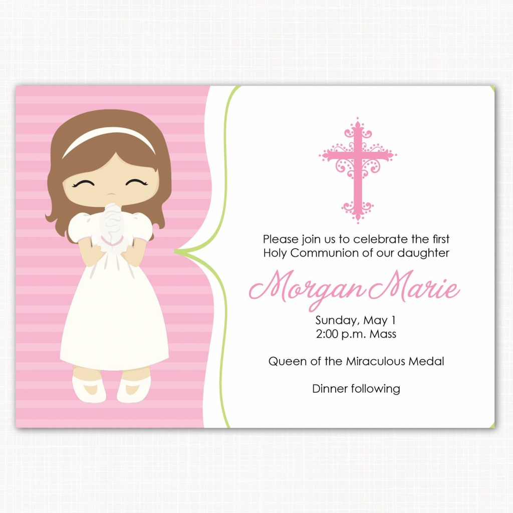Concept For Creating Communion Card | Diy Greeting Cards | Communion | 1St Communion Cards Printable