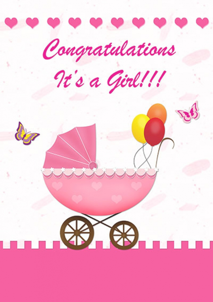 Congrats Cards Printable - Canas.bergdorfbib.co | Congratulations On Your Baby Girl Free Printable Cards