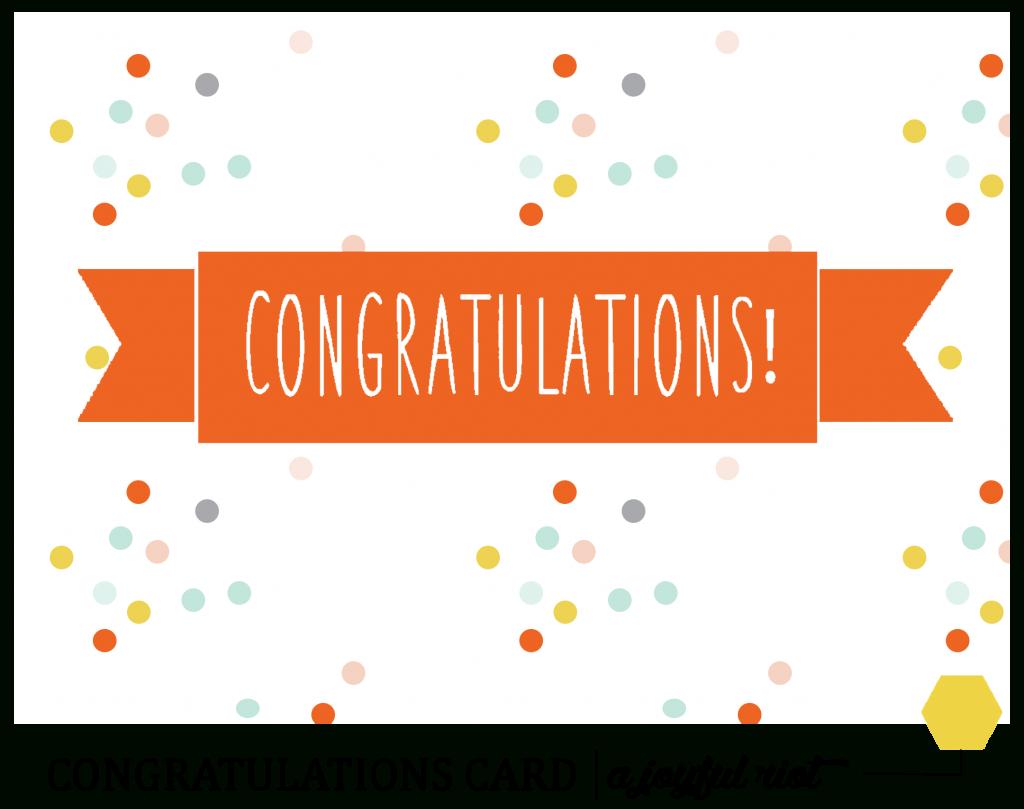 Congratulations Cards Templates - Under.bergdorfbib.co | Free Printable Congratulations Cards