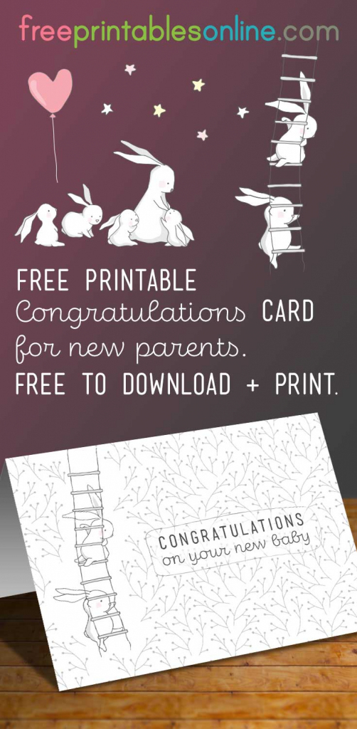 Congratulations On Your New Baby Card - Free Printables Online | Free Printable Congratulations Baby Cards