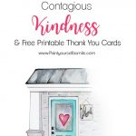 Contagious Kindness Tags & Free Printable Thank You Cards   Paint | Cute Printable Thank You Cards