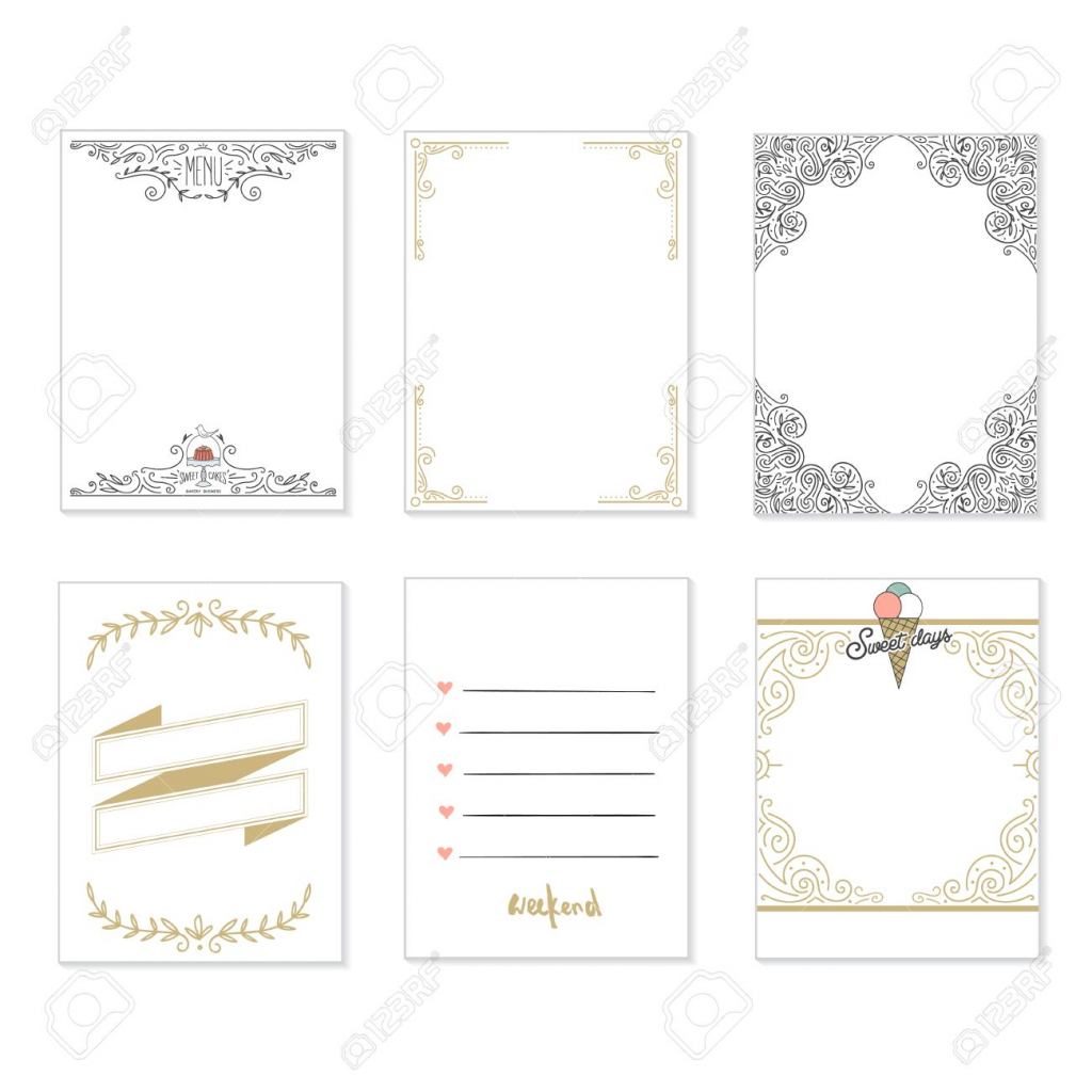 Cooking Cards, Notes, Stickers, Labels, Tags With Cute Decorative | Cute Note Cards Printable