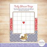 Cowboy Baby Shower Bingo Cards Cowboy Baby Boy Shower Game | Etsy | Cowboy Bingo Printable Cards