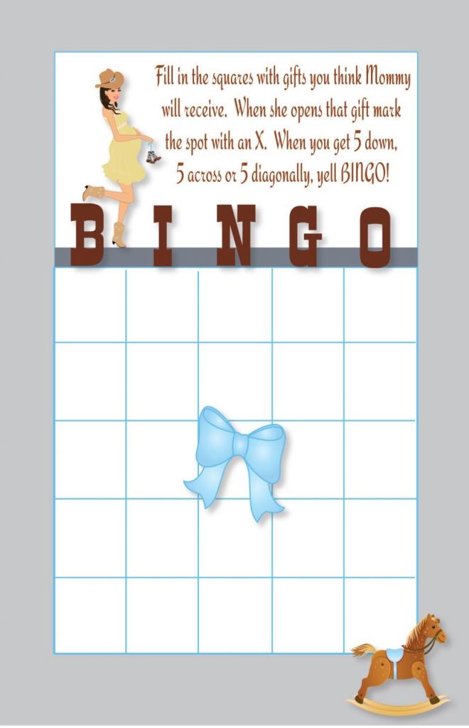 Cowboy Baby Shower Bingo Cards Printable Diy Instant | Etsy | Cowboy Bingo Printable Cards