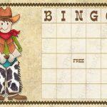 Cowboy Themed Bingo Cards | Cowboy Bingo Printable Cards