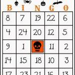 Crafty In Crosby: Free Printable Halloween Bingo Game   Free Printable Number Bingo Cards 1 20