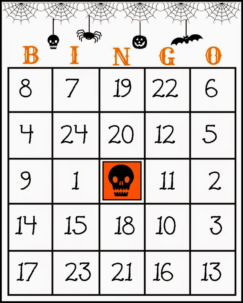 Crafty In Crosby: Free Printable Halloween Bingo Game | Free Printable Number Bingo Cards 1 20
