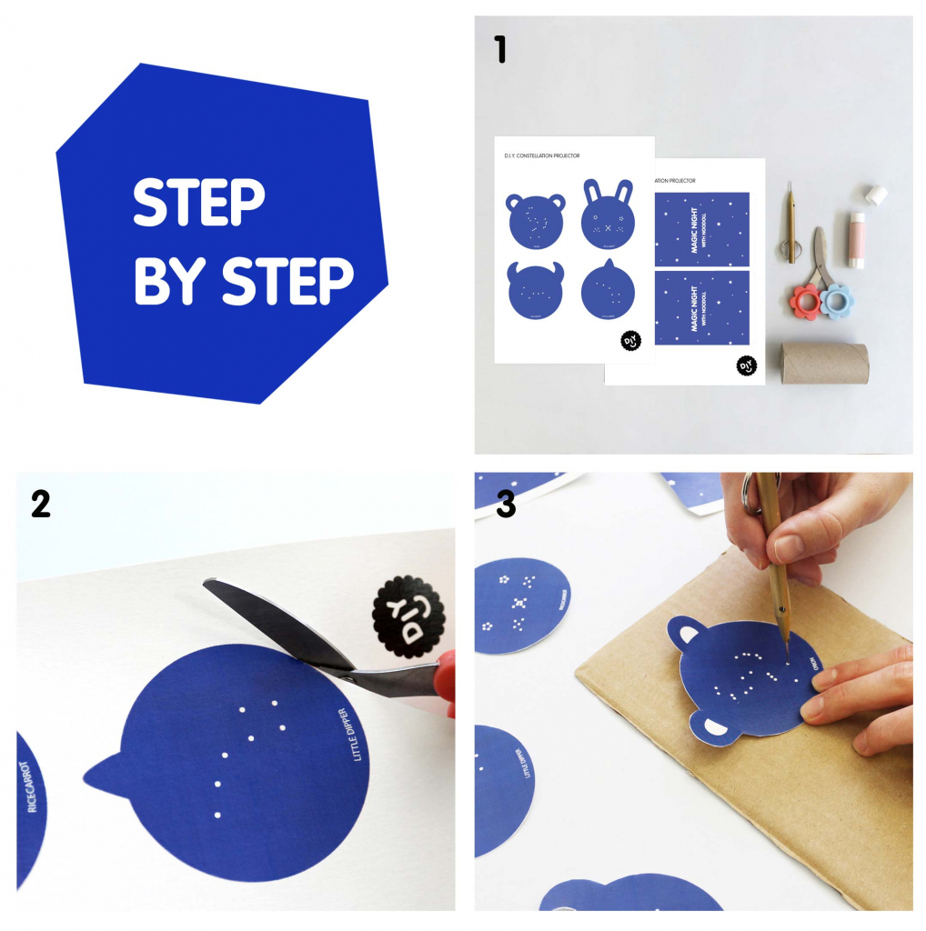 Create Your Own Constellation Light For Your Bedroom | Noodoll | Printable Constellation Projection Cards
