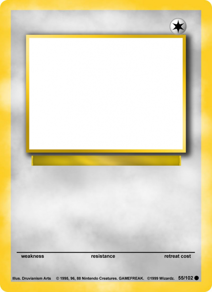 Create Your Own Pokemon Card App I Made And Released To The Itunes | Blank Pokemon Card Printable
