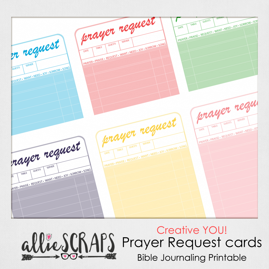 Creative You   Prayer Request Cards Printable   Prayer Request Cards Printable