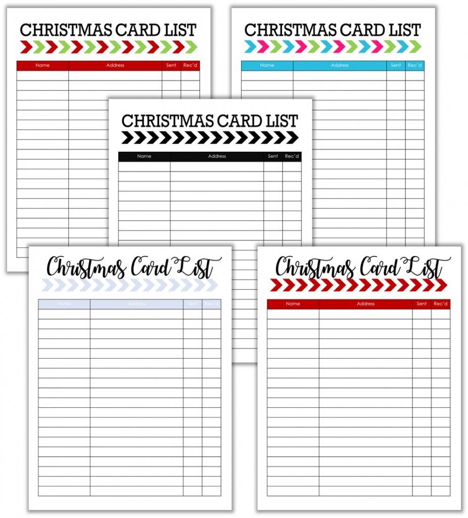 Cupcake Wishes & Birthday Dreams: Christmas Card List And Tracker | Printable Christmas Card List