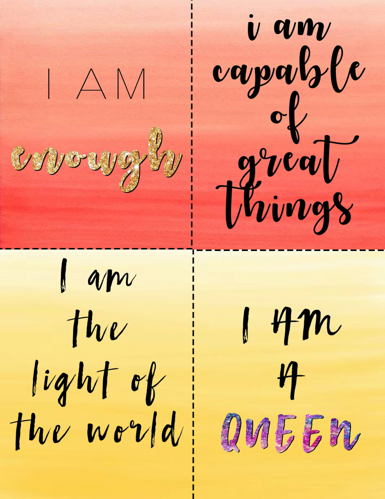 Custom Affirmation Cards//printable Positive Affirmation Cards//self | Self Care Cards Printable