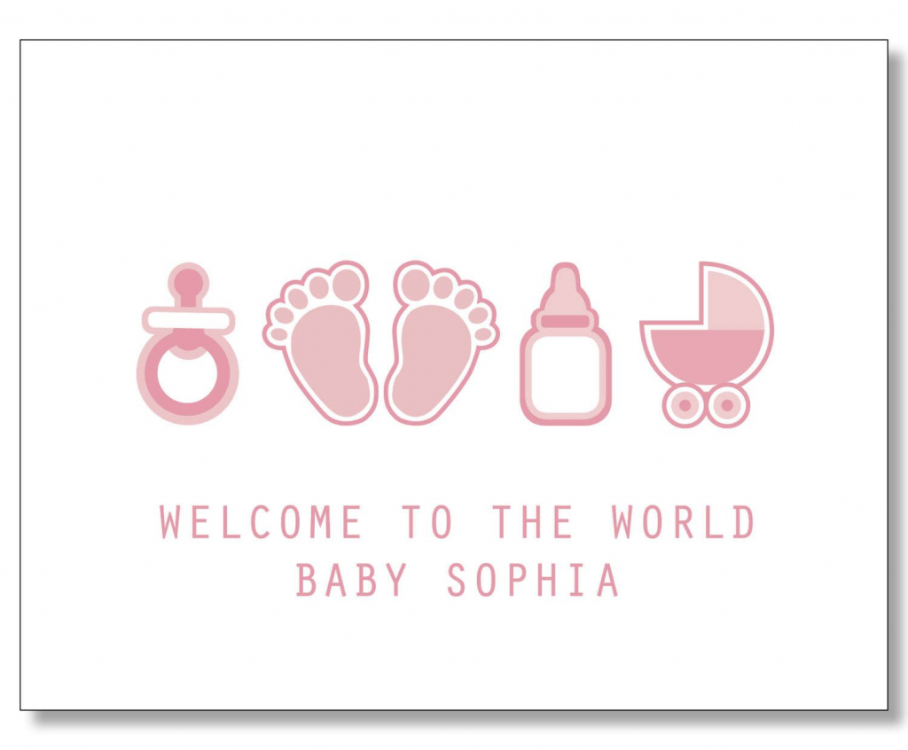 Custom Baby Girl Card. Custom Baby Name Card. New Mom Card | Congratulations On Your Baby Girl Free Printable Cards