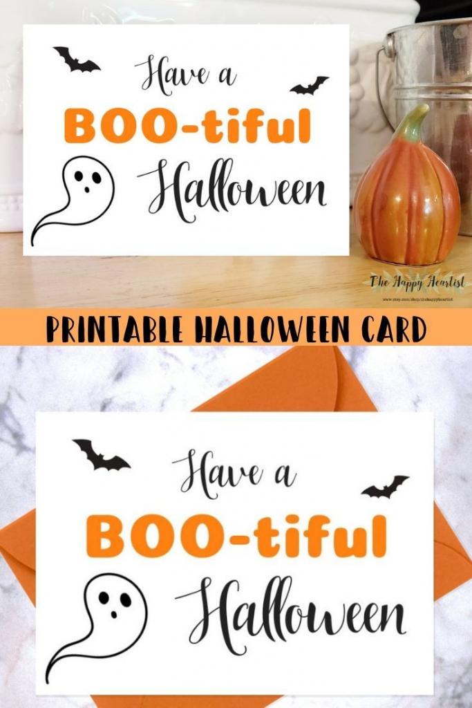 Cute Halloween Card. Have A Boo-Tiful Halloween Printable Card | Cute Printable Halloween Cards