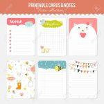 Cute Note Template   Under.bergdorfbib.co | Cute Note Cards Printable