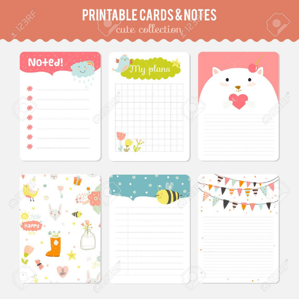 Cute Note Template - Under.bergdorfbib.co | Cute Note Cards Printable