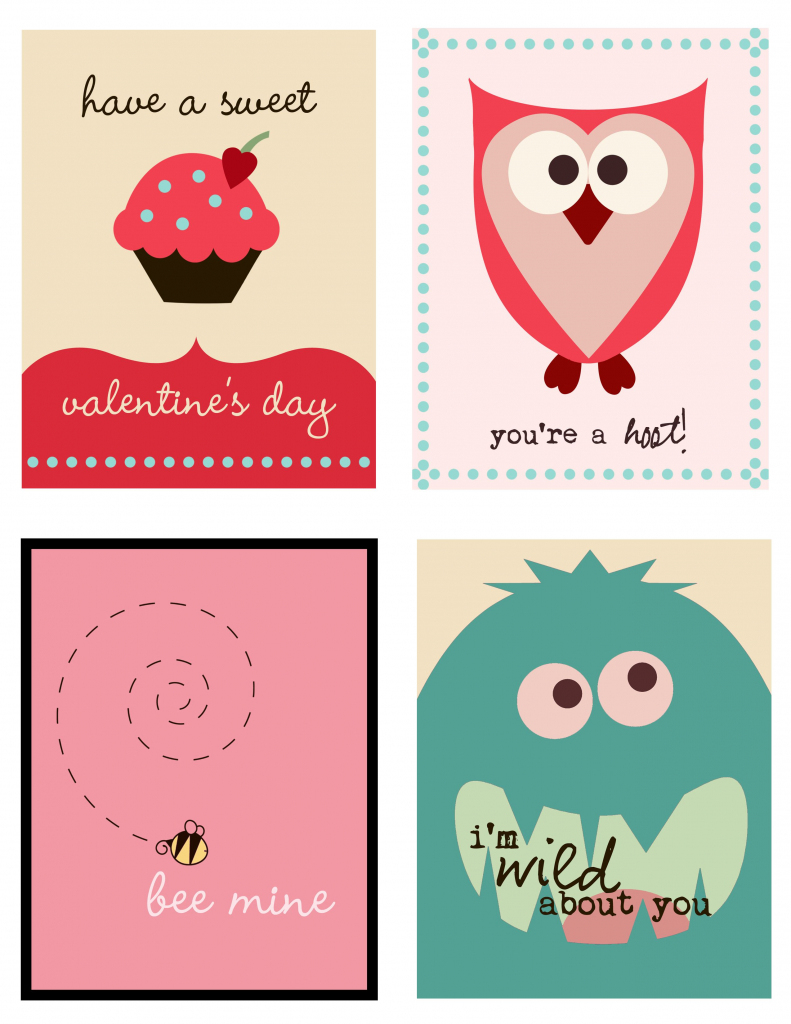 Cute Set Of Valentine's Day Cards To Print | Printables | Printable | Free Valentine Printable Cards For Husband