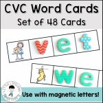 Cvc Word Cards For Magnetic Letters   Little Lifelong Learners | Cvc Picture Cards Printable