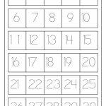 نتيجة بحث الصور عن Tracing Numbers 1 20 | Worksheets | Number | Number Word Flash Cards Printable 1 20