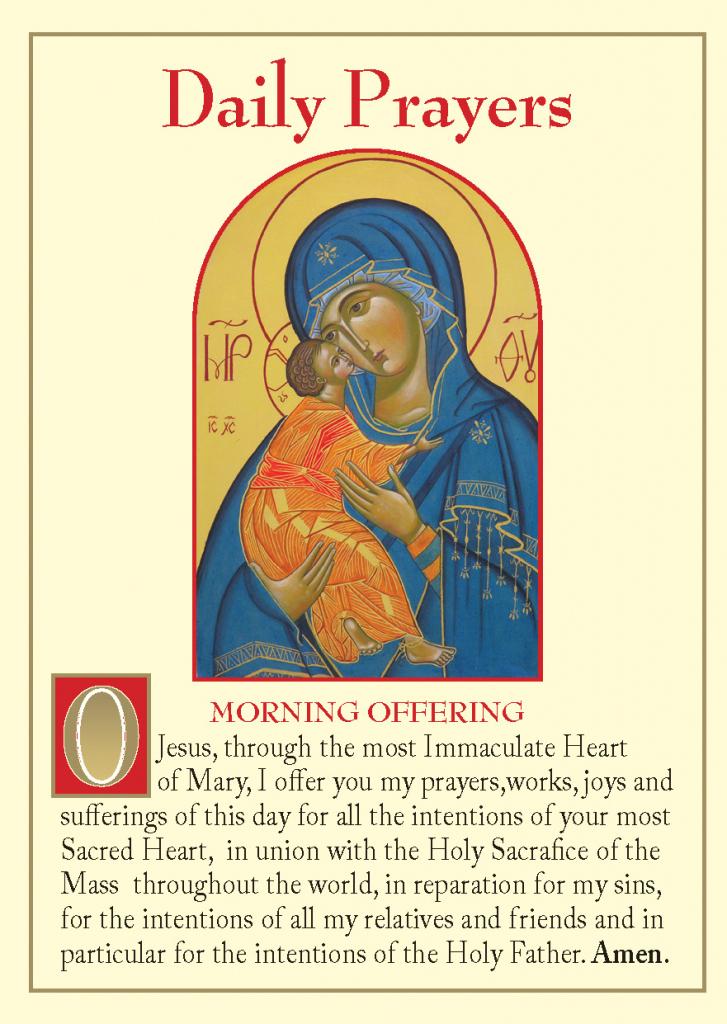 Daily Prayers (Pack Of 20) | Angelus Prayer Card Printable