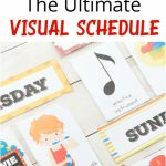 Daily Visual Schedule For Kids Free Printable   Natural Beach Living | Free Printable Schedule Cards For Preschool