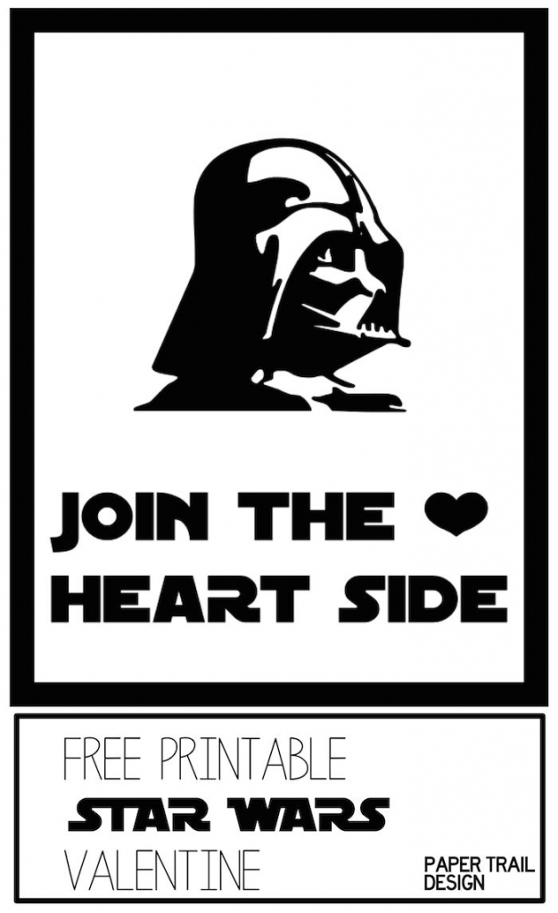 Darth Vader Valentine Printable {Star Wars} | No Candy Valentines | Star Wars Printable Cards Free