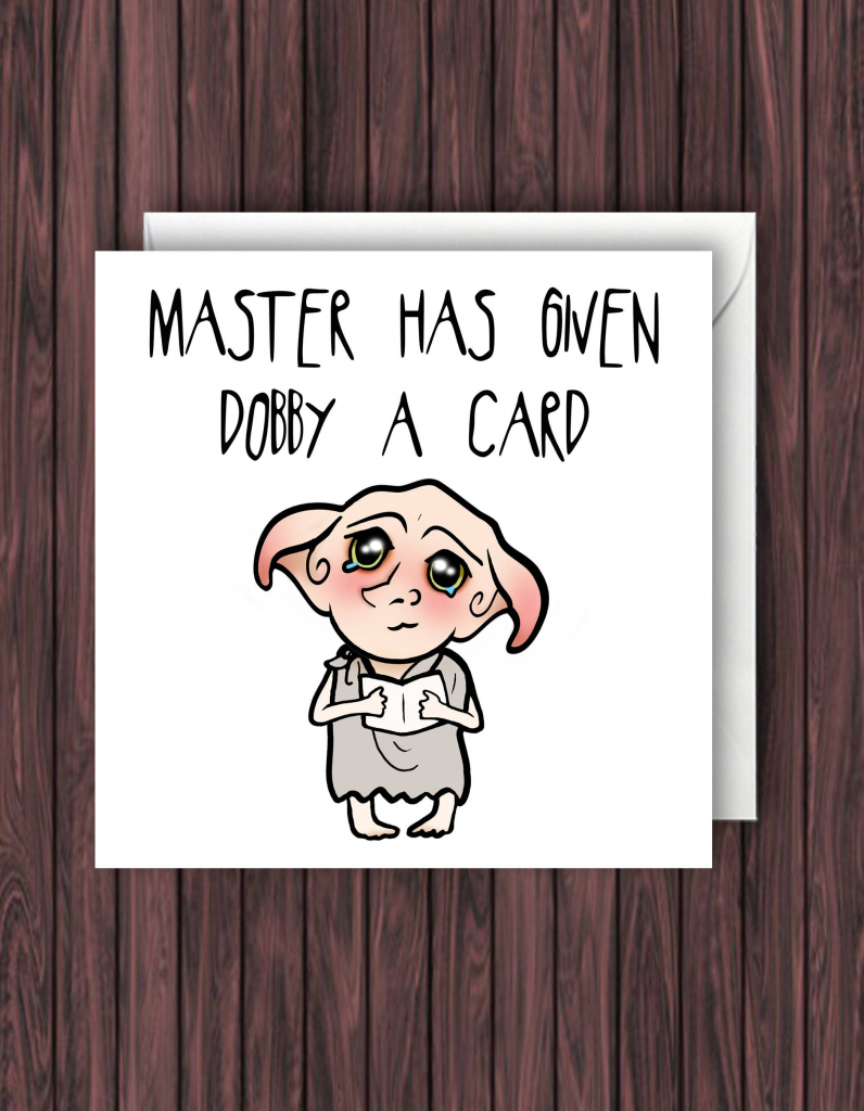 Debby Card. Harry Potter Birthday Card. Funny Greetings Card. Geek | Nerdy Birthday Cards Printable
