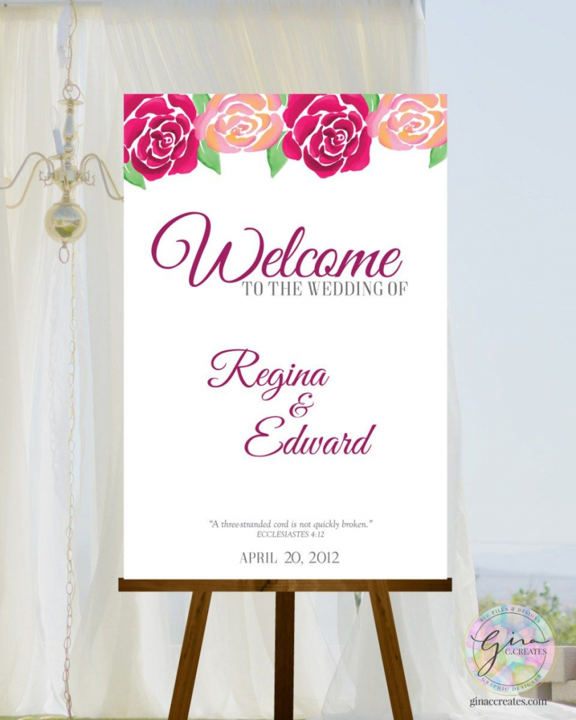 Deep Floral | Afforable Wedding Ideas | Welcome Boards, Floral | Welcome Back Card Printable