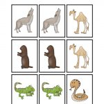 Desert Animal Printables   Teaching Mama | Animal Matching Cards Printable