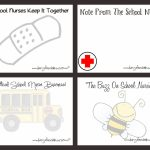 Diary Of A School Nurse: Just For Fun Printable Note Cards For | Nurses Day Cards Free Printable
