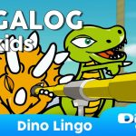 Dinolingo Tagalog For Kids   Learning Tagalog For Kids   Tagalog | Printable Tagalog Alphabet Flash Cards