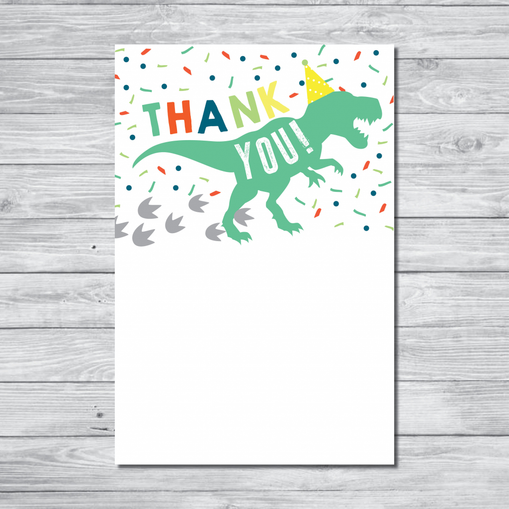 Dinosaur Thank You Card Instant Download Thank You Card | Etsy | Dinosaur Thank You Cards Printable