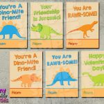 Dinosaur Valentine Cards Printable Instant Download In 2019 | Printable Dinosaur Valentine Cards