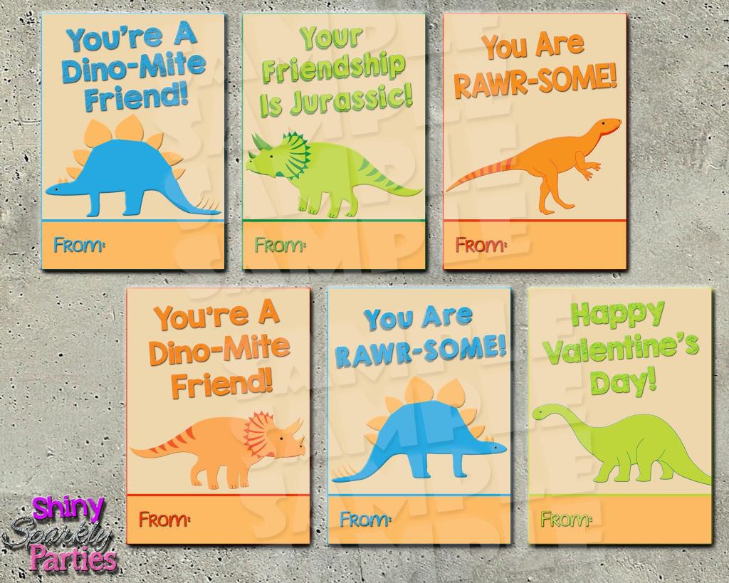 Dinosaur Valentine Cards Printable Instant Download In 2019   Printable Dinosaur Valentine Cards