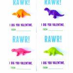 Dinosaur Valentines Printable For Kids   Make Life Lovely | Printable Dinosaur Valentine Cards