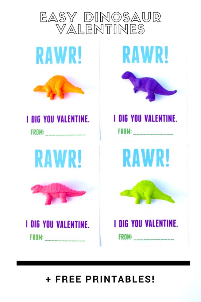 Dinosaur Valentines Printable For Kids - Make Life Lovely   Printable Dinosaur Valentine Cards