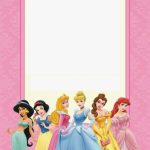 Disney Princess Birthday Invitations Printable Free   Borders And   Free Printable Princess Invitation Cards