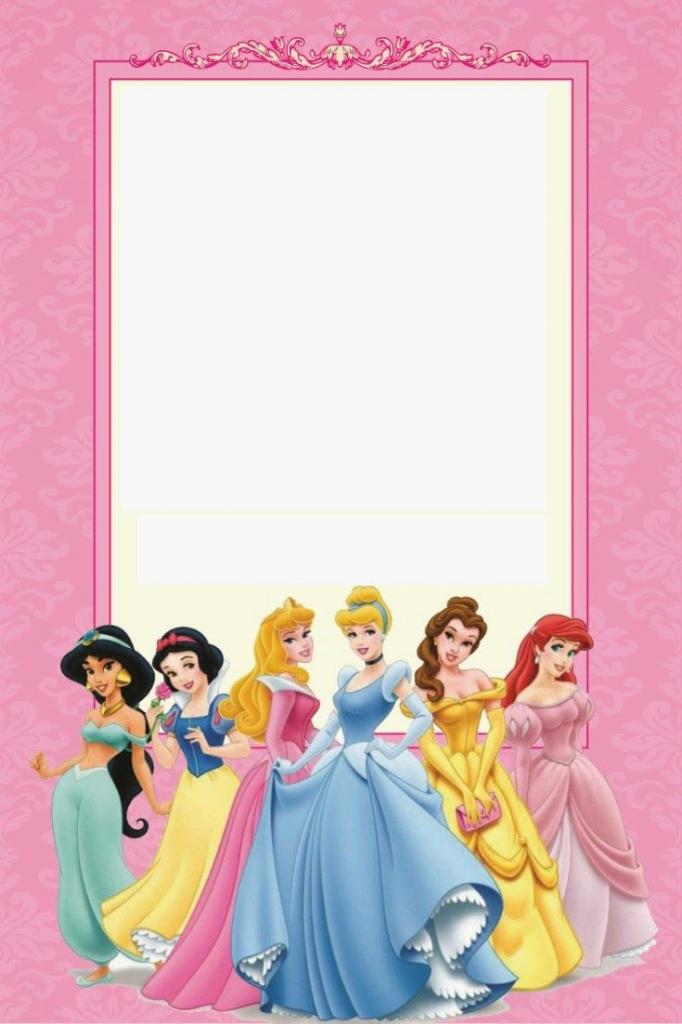 Disney Princess Birthday Invitations Printable Free | Borders And | Free Printable Princess Invitation Cards
