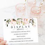 Display Shower Card Gifts On Display Printable Shower Card | Etsy | Printable Bridal Shower Card