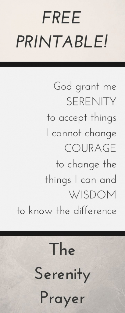 Divine Printable Serenity Prayer | Shibata | Printable Serenity Prayer Cards